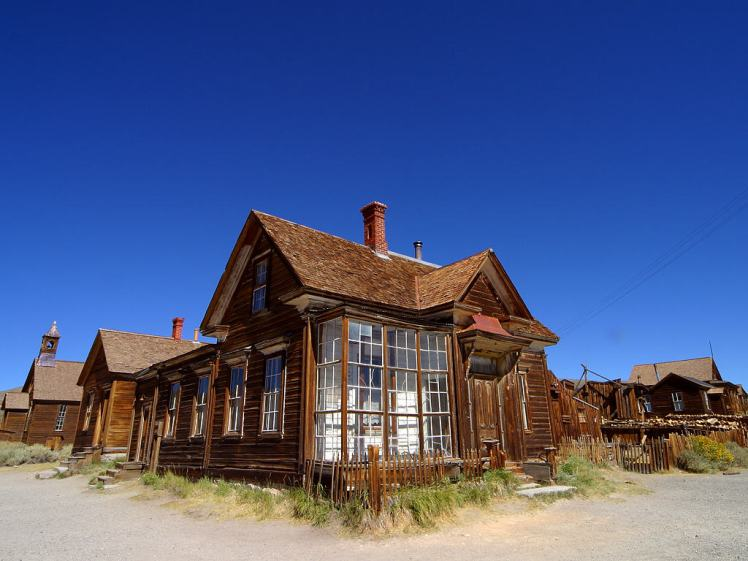 Bodie, CA This image from PD Photo.org has been released into the public domain by its author and copyright holder, Jon Sullivan. From the photo page: This work is dedicated to the Public Domain. For non-US use it is also placed under a Creative Commons CC0 designation.