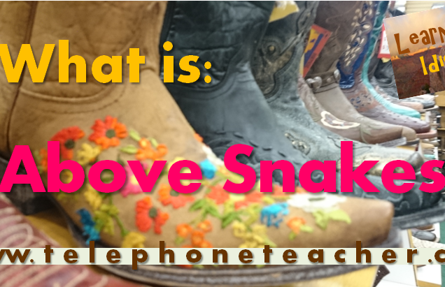 Learning Idioms: Above Snakes
