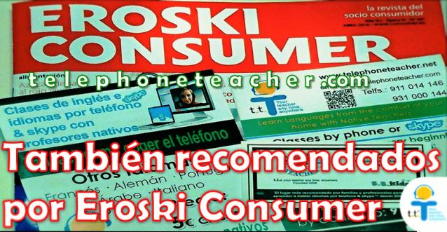 eroski consumer, clase de inlés con nativos, aprender inglés por skype,clases de idiomas, clases telefónicas