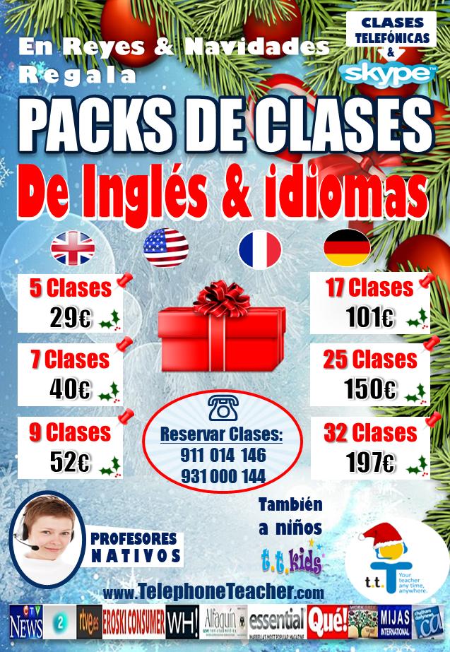 Un buen regalo para Reyes definitivamente son packs de clases de idiomas, sorpréndelos.