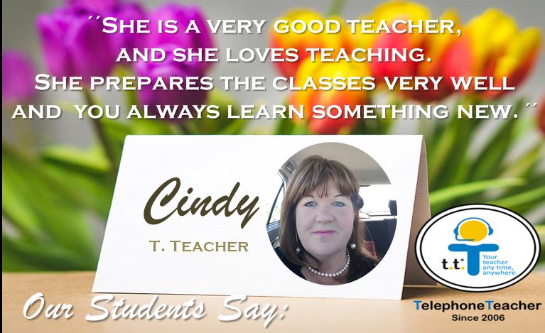 Así opinan de nuestros Teacher- Cindy